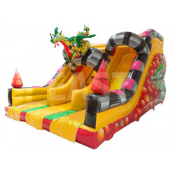 Aufblasbare Dragon Double Slide